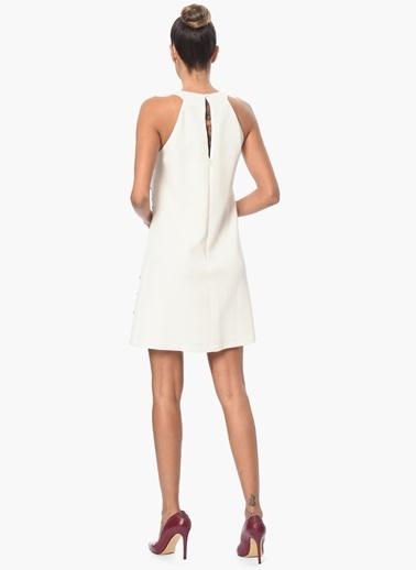 NetWork Mini Abiye Elbise Ekru
